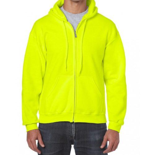GI18600 HEAVY BLEND™ Safety Green kapucnis pulóver