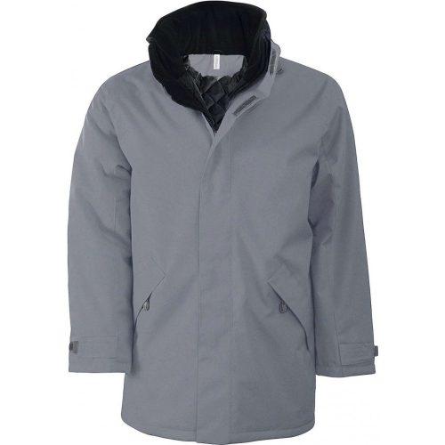 Bélelt kabát KA677 SZÜRKE L