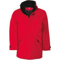 Bélelt kabát KA677 PIROS XL