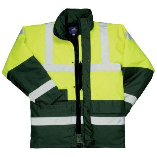 PW S466 - Kontraszt Traffic kabát sárga / kék