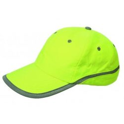 Láthatósági Baseball sapka Fluo Lime